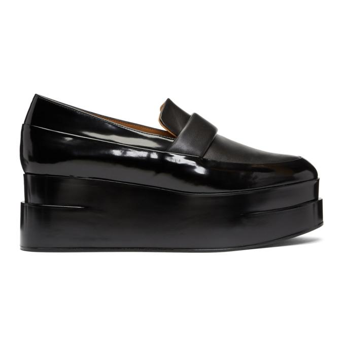 Clergerie Black Lynn Platform Loafers