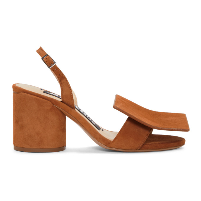 JACQUEMUS TAN LES ROND CARRE SANDALS