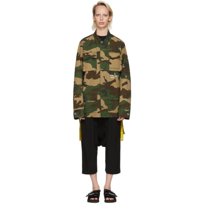 OFF-WHITE MULTICOLOR CAMOUFLAGE FIELD JACKET