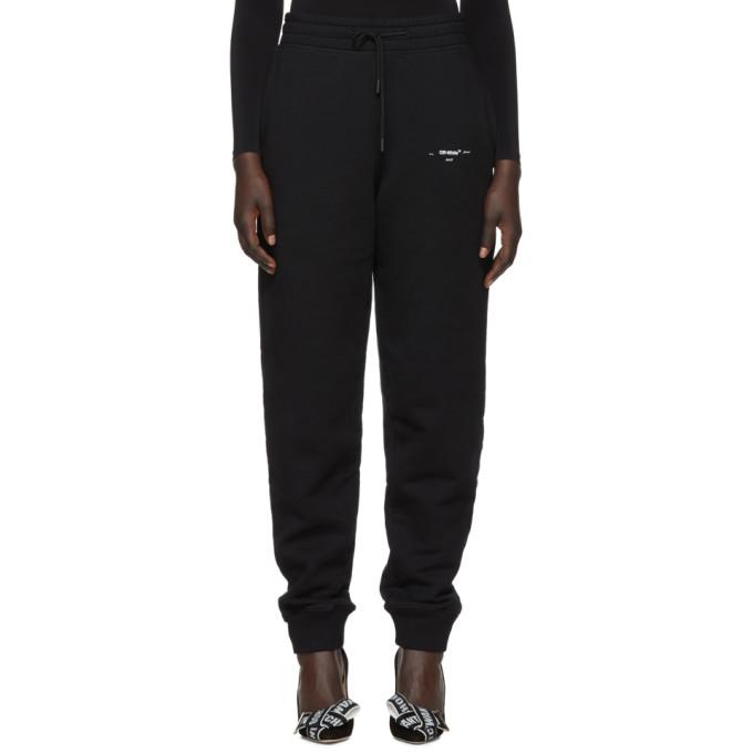 Black Diagonal Marker Arrows Lounge Pants Off-white