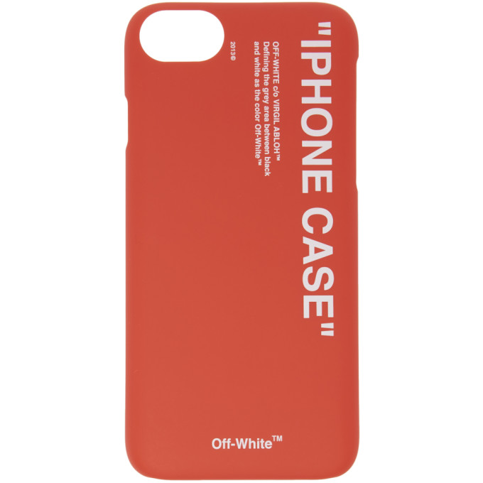 Off-White Red Quote Iphone 8 Case, 2001 Red/Wt