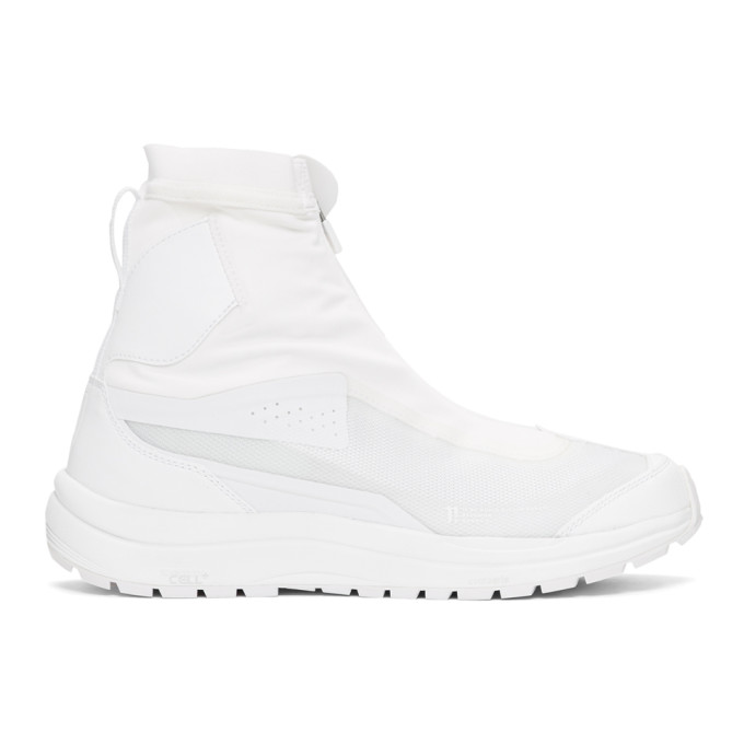 White Salomon Edition Bamba 2 High Top Sneakers by 11 By Boris Bidjan Saberi