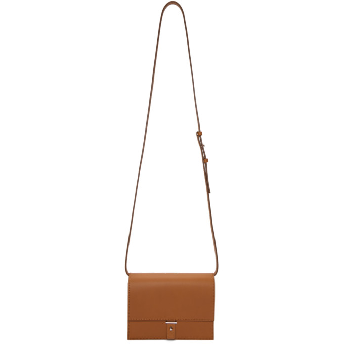 PB 0110 Pb 0110 Brown Flap Bag