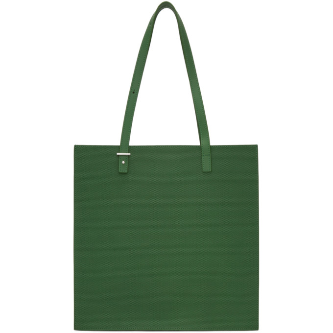 PB 0110 Pb 0110 Green Embossed Leather Tote