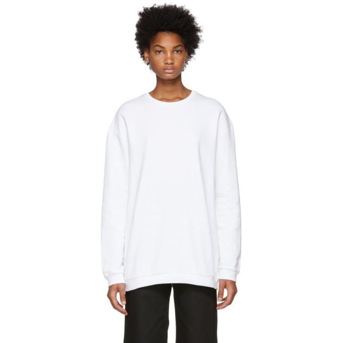 White Oversized Munich Sweatshirt from SSENSE