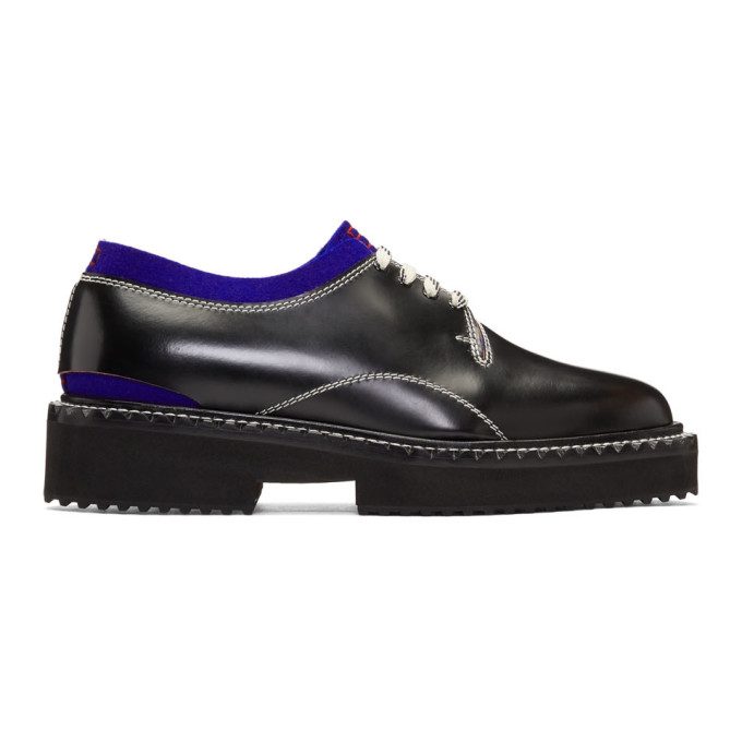OAMC Cutaway Oxford Shoes in Black