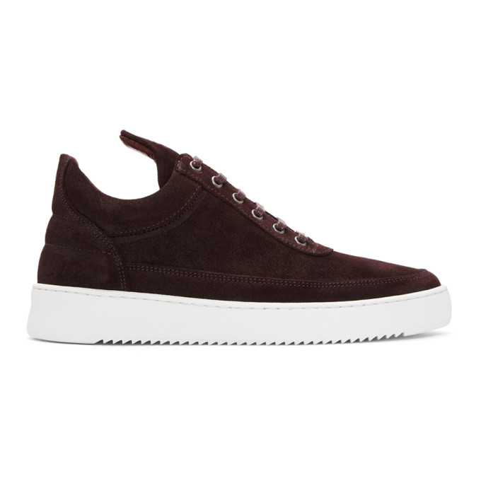 FILLING PIECES Waxed Suede Sneakers in 1912 Ox Bld