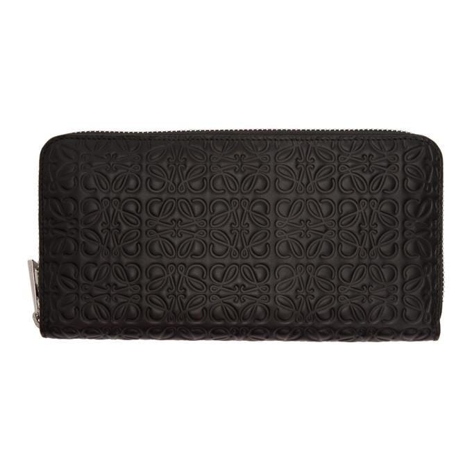 LOEWE Black Medium Anagram Continental Wallet