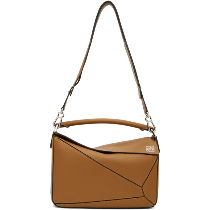 LOEWE Tan Medium Puzzle Bag