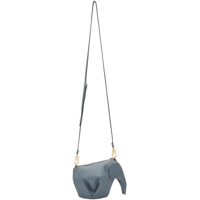 LOEWE Blue Mini Elephant Bag