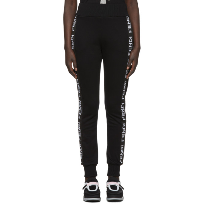 Black 'roma' Band Lounge Pants by Fendi