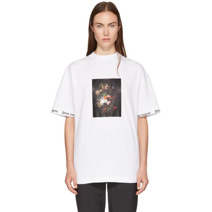 Palm Angels Flower Photo Print T-Shirt - White
