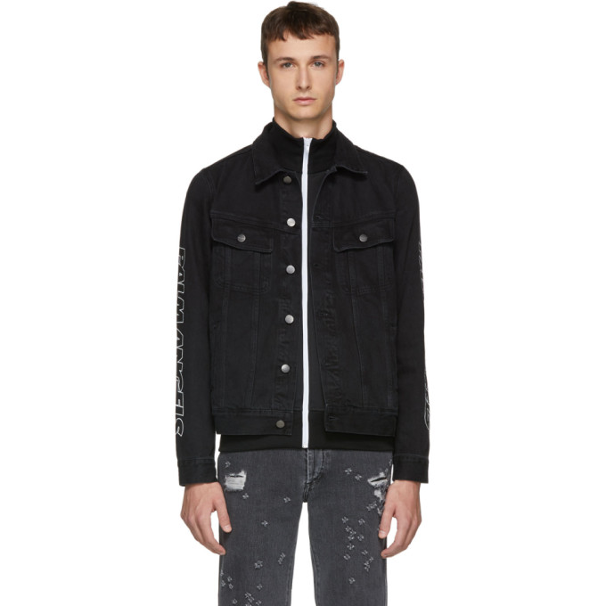 Black Classic Denim Jacket by Palm Angels