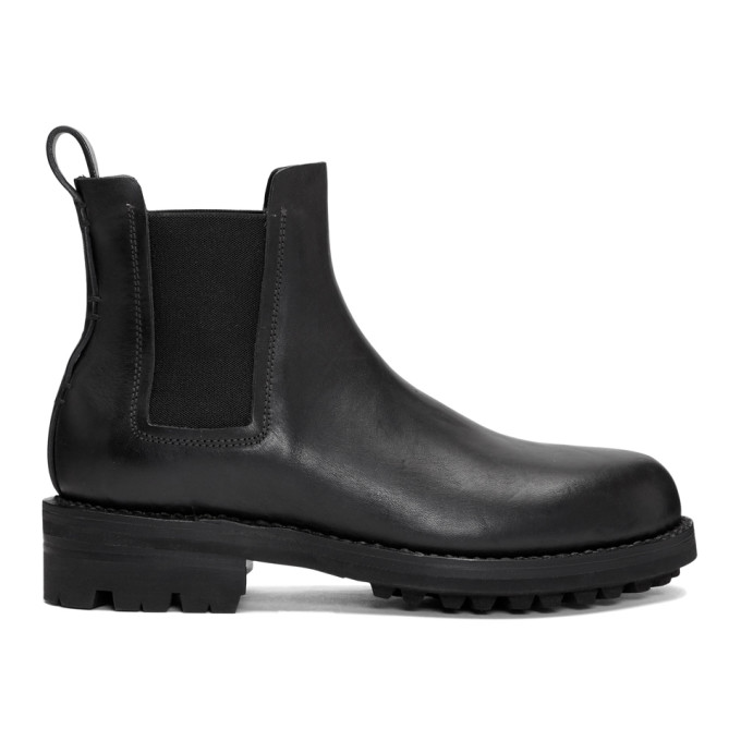FEIT BLACK HAND SEWN CHELSEA BOOTS