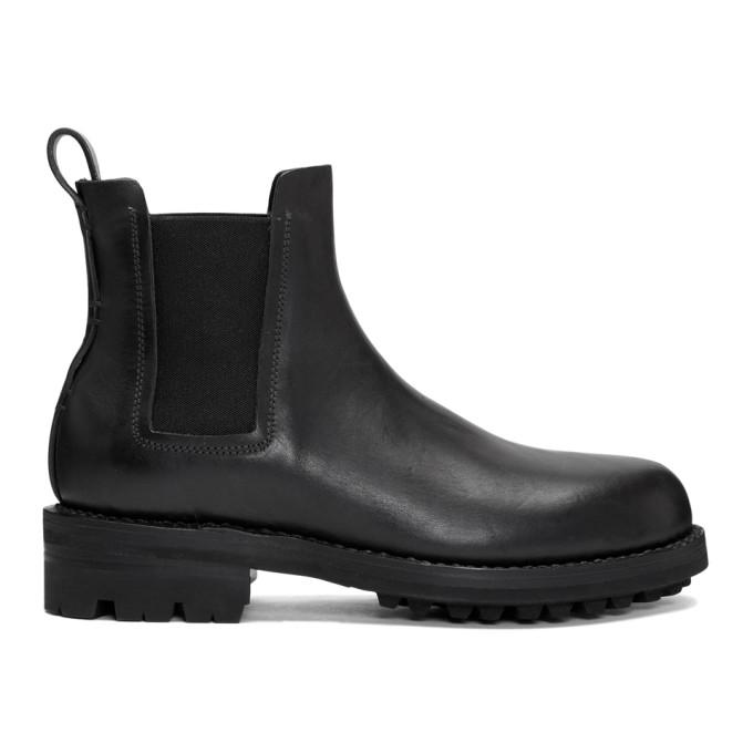 FEIT Feit Black Hand Sewn Chelsea Boots