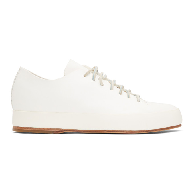 FEIT WHITE HAND SEWN LOW-TOP SNEAKERS