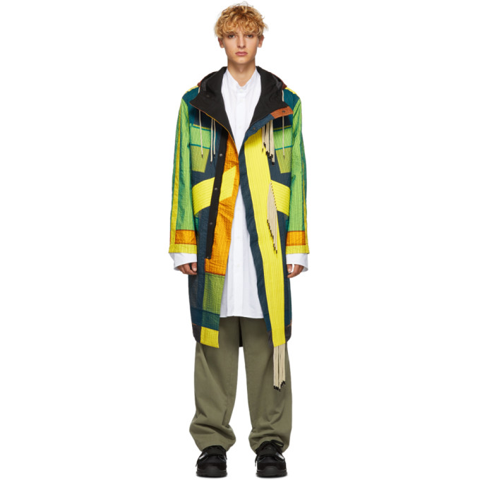CRAIG GREEN Quilted Parka in Yellow