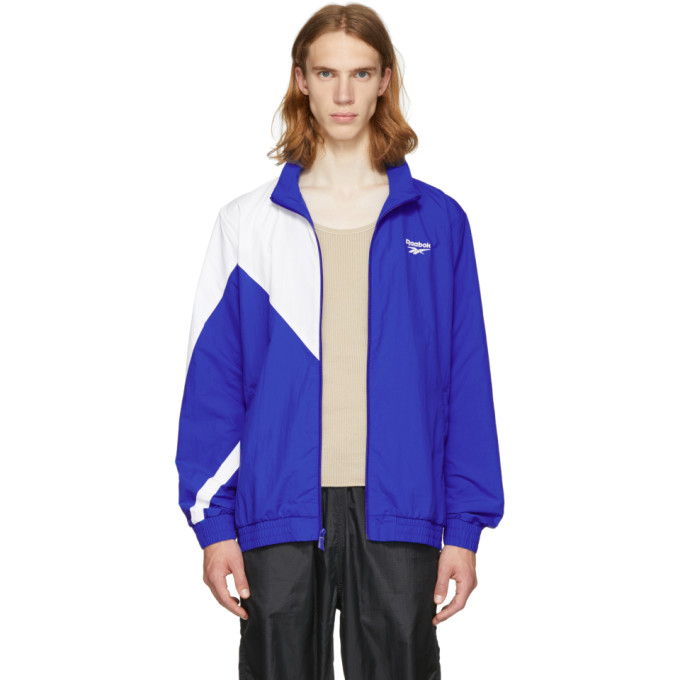 Reebok Classics Blue And White Lf Track Jacket