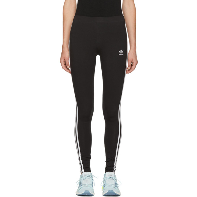 Black 3-Stripes Tights from SSENSE