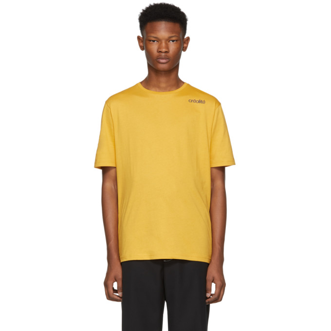 Opening Ceremony Creolite Text T-Shirt in Yellow