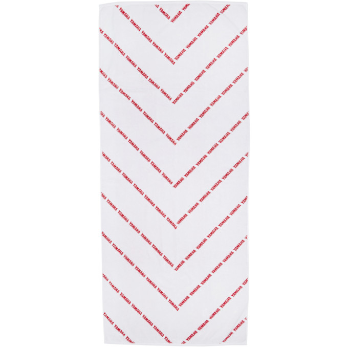 White & Red Yamaha Edition Towel