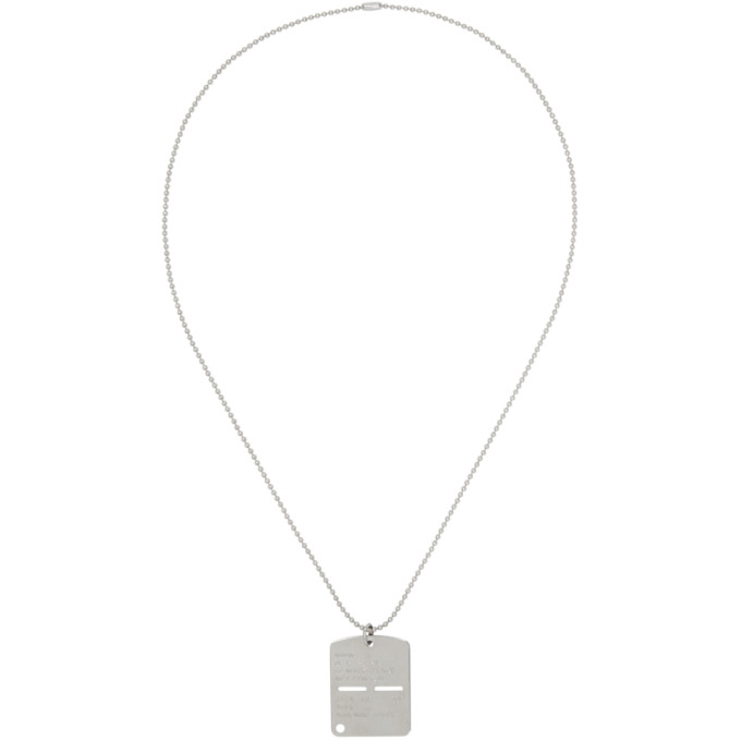 ALYX SILVER MILITARY DOG TAG NECKLACE