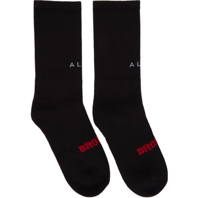 ALYX BLACK DROPOUT SOCKS