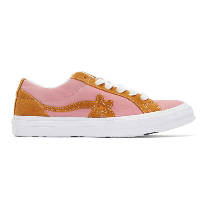 Converse Suedes CONVERSE PINK AND ORANGE GOLF LE FLEUR* EDITION GOLF 6.1 ONE STAR SNEAKERS