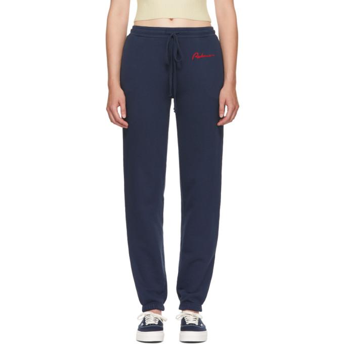 Re/Done Blue Chain Stitch Lounge Pants