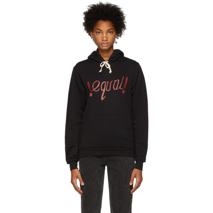 RE/DONE BLACK EQUAL HOODIE