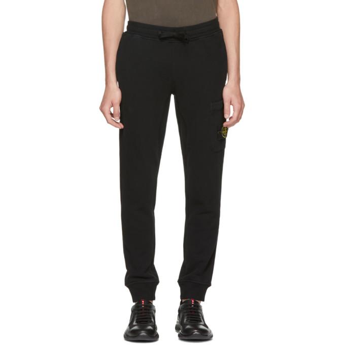 Black Logo Badge Lounge Pants