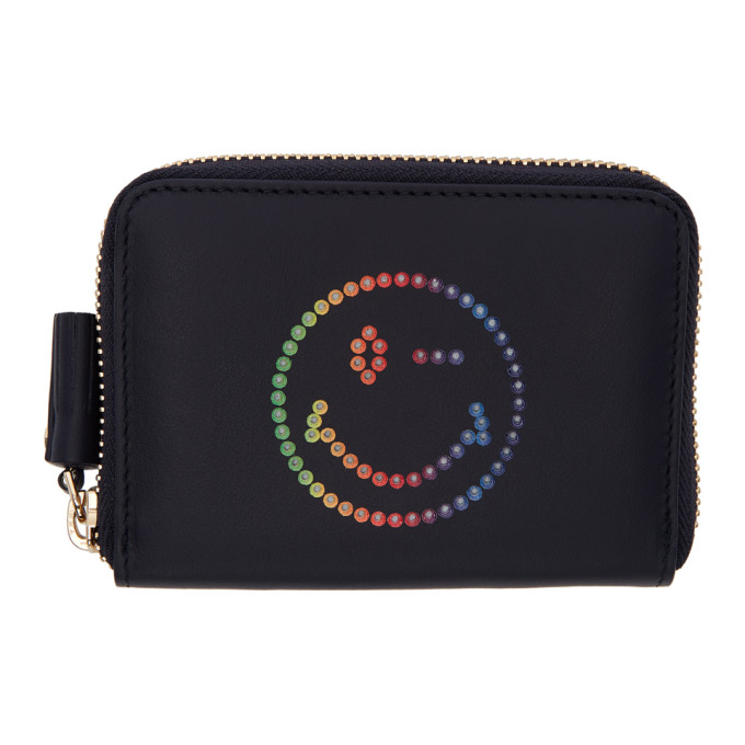 ANYA HINDMARCH Small Smiley Wallet, 455 Marine