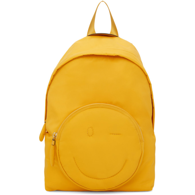 Chubby Smiley Nylon Backpack - Yellow, Soleil