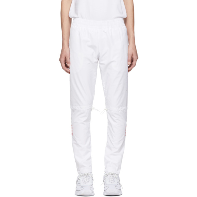 ALL IN All In White Yokoama Lounge Pants in White/Red