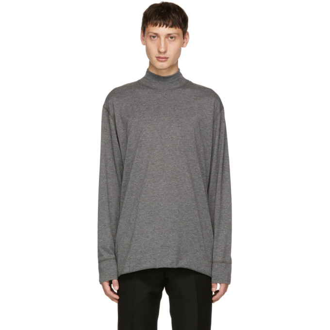 TIGER OF SWEDEN JEANS GREY BAX JERSEY TURTLENECK