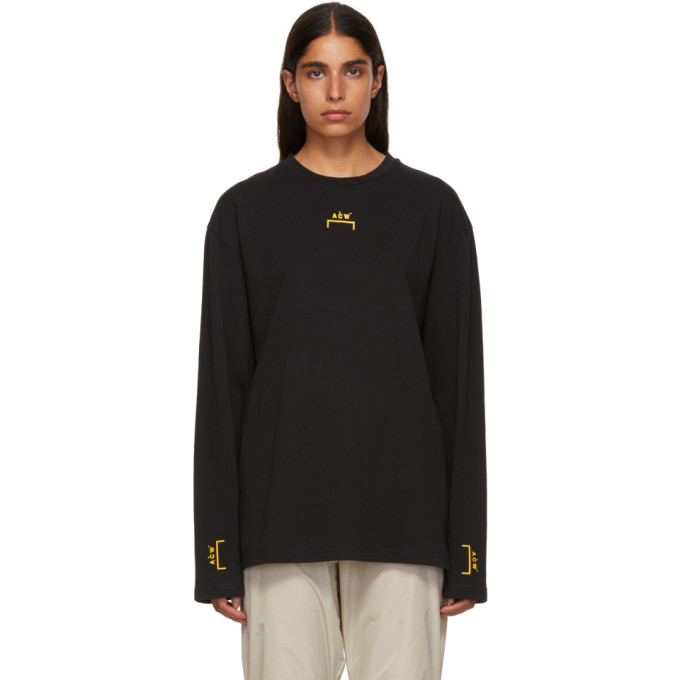A-Cold-Wall* A-COLD-WALL* BLACK BRACKET TAPE LONG SLEEVE T-SHIRT