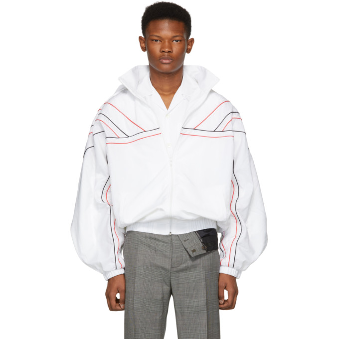 Y/PROJECT Piped Trim Sports Jacket in White