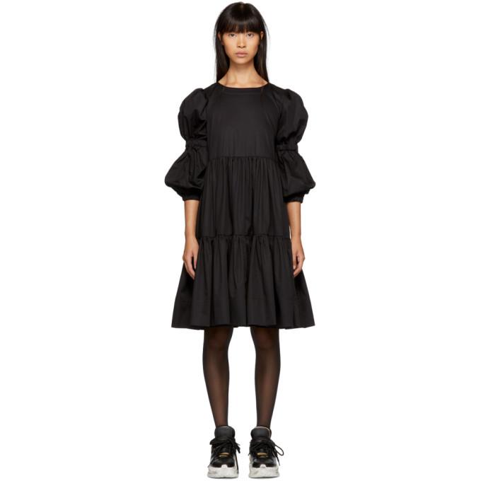 MOLLY GODDARD BLACK MILLA DRESS