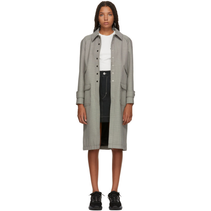 Alexachung - Houndstooth Wool Blend Coat - Womens - Black White in Blk & Wht