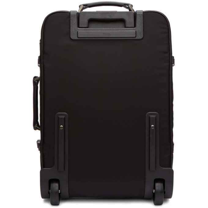 PRADA Black Logo Suitcase