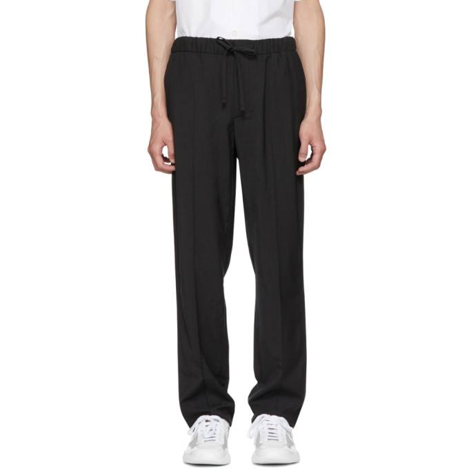 Grey Travel Elasticized Trousers by Prada