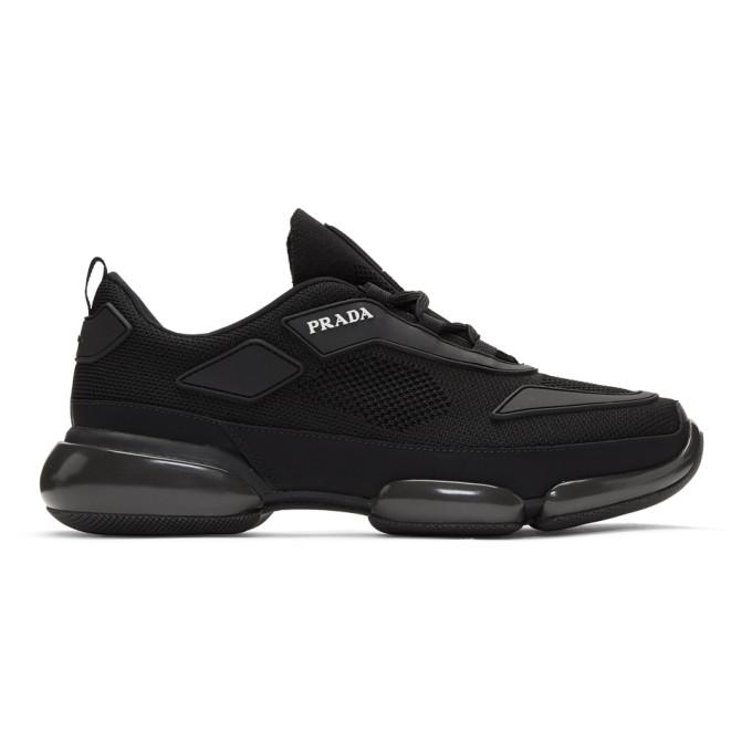 rechercher les plus récents dernière conception ordre Shoptagr | Black Knit Cloudbust Sneakers by Prada