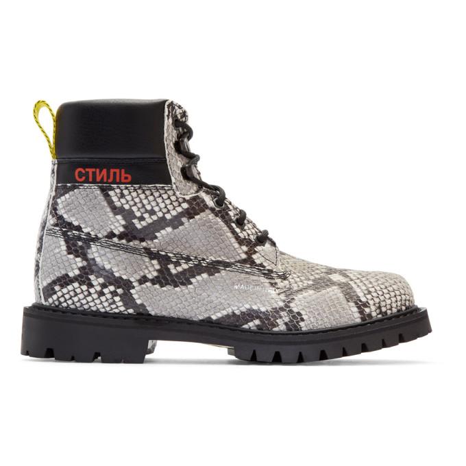 Heron Preston Black & Python Boots