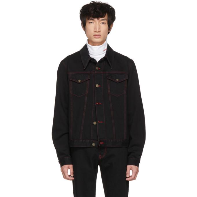 Black Denim Archive Trucker Jacket by Calvin Klein 205 W39 Nyc