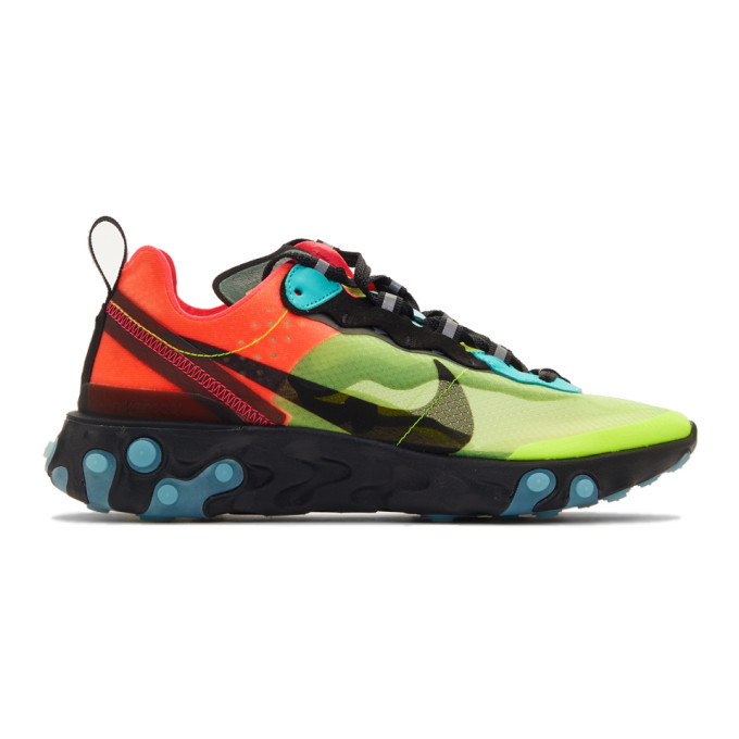 Green & Blue React Element 87 Sneakers by Nike