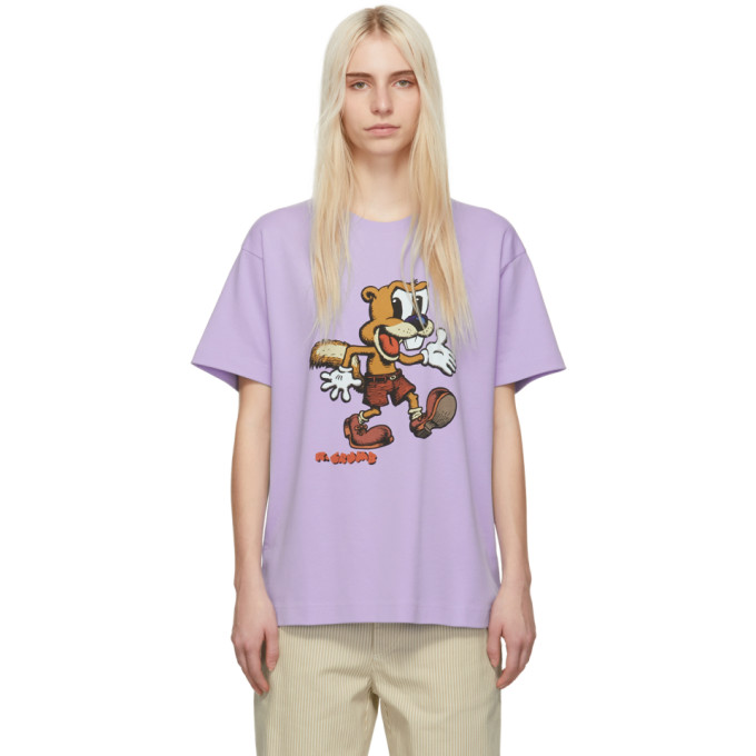 Purple Redux Grunge R. Crumb Squirrely T Shirt by Marc Jacobs