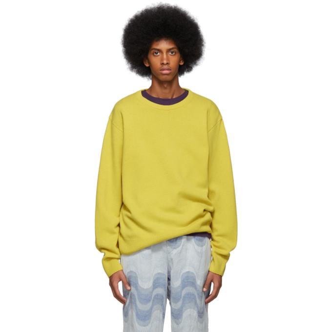 Yellow Naples Sweater by Dries Van Noten