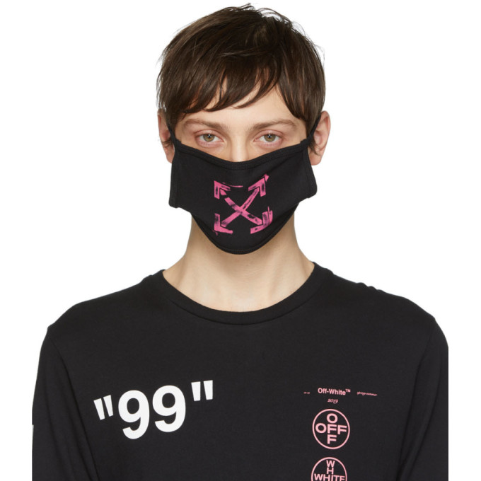 Black Stencil Arrows Mask by Off White