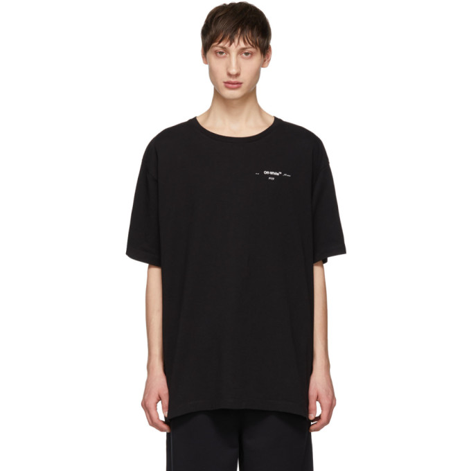Black 3 D Marker T Shirt by Off White