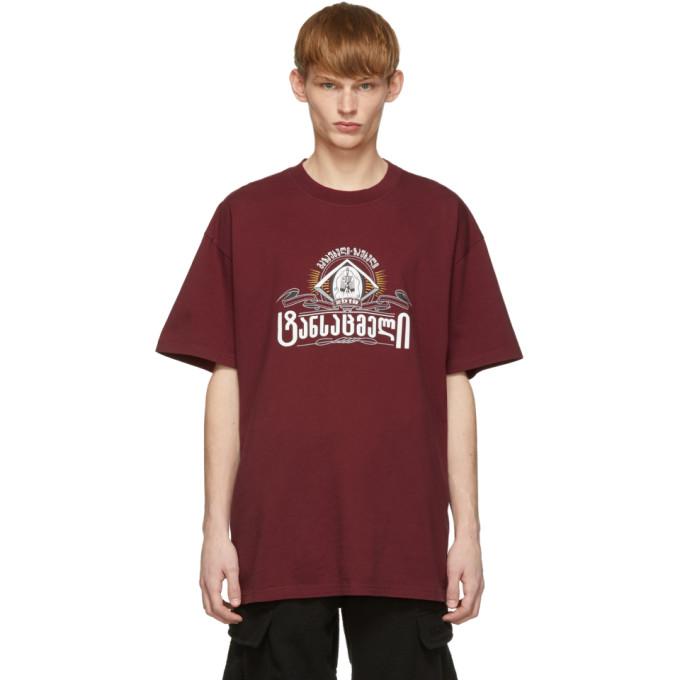 Red Secret Society T Shirt by Vetements
